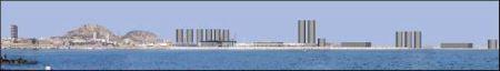 Representación de cómo se verán los silos en el puerto